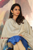 Actress Rakul Preet Singh Stills in Blue Salwar Kameez at Rarandi Veduka Chudam Press Meet  0009.JPG