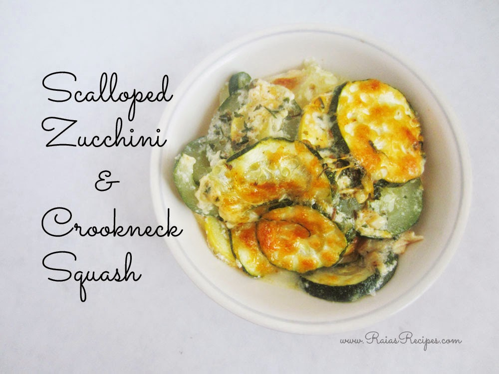 Scalloped Zucchini & Crookneck Squash | grain-free, egg-free, sugar-free | www.RaiasRecipes.com