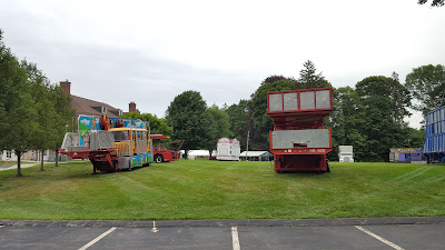 carnival rides delivered and ready for set up