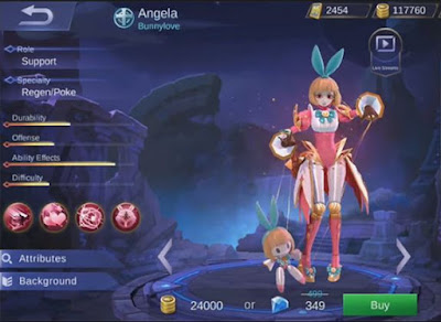 Build Item Gear Hero Angela Mobile Legends Terkuat