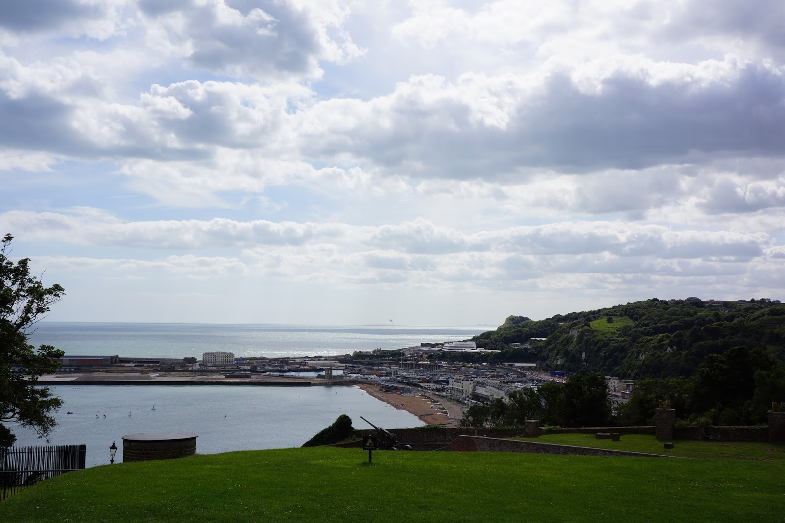 seaside view of dover castle grounds
