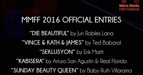 Official Entries to the MMFF 2016