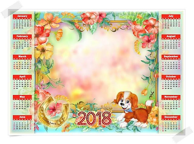 2018 Kalender für Kinder