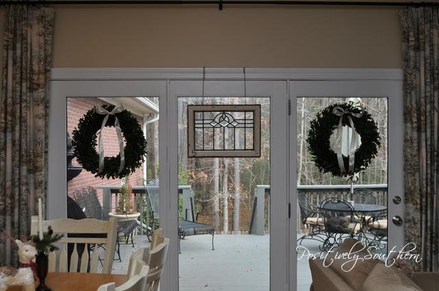 Styling a boxwood wreath