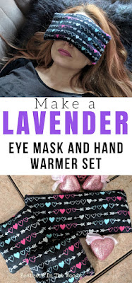 Lavender eye mask | sew | hand warmers