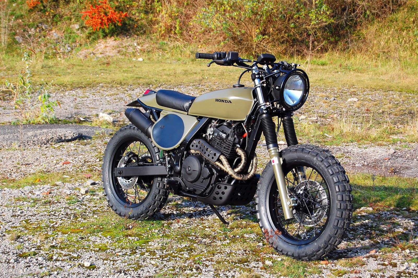Honda NX Dominator Street Tracker Scrambler Motorcycle