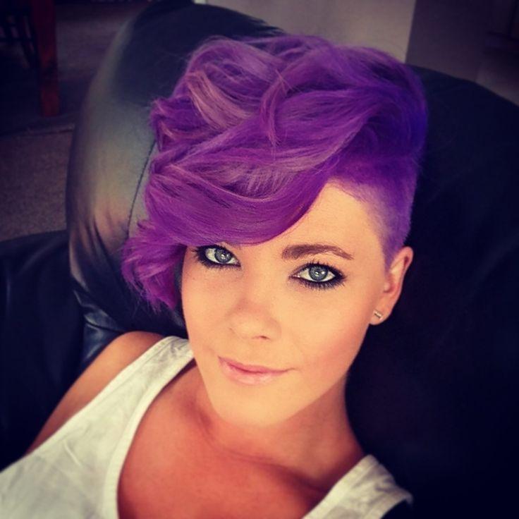 Surprising Short Haircuts In Purple Hairstyles For Women Draintrainus