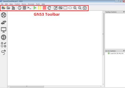 GNS3 Toolbar belajar jaringan komputer