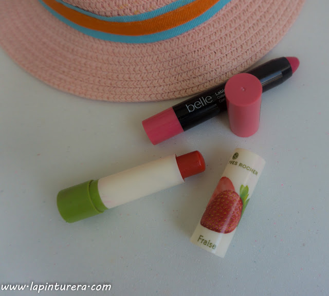 stick labial de Belle y de Yves Rocher