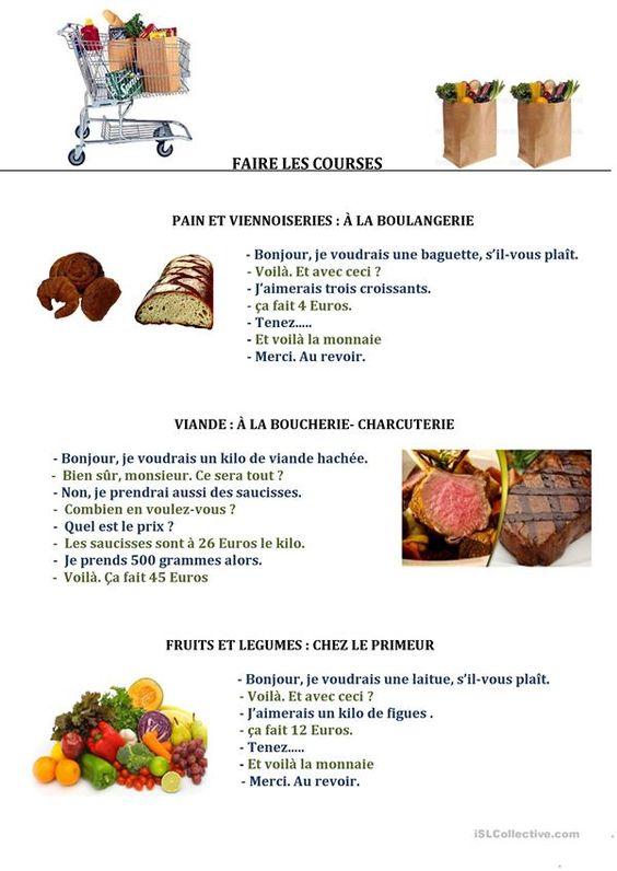 Zakupy - dialog 4 - Francuski przy kawie