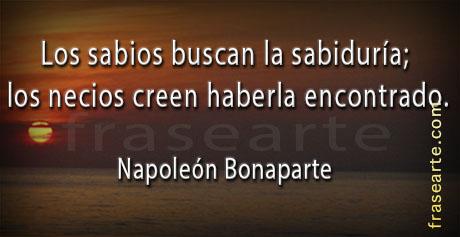 Frases sábias de Napoleón Bonaparte