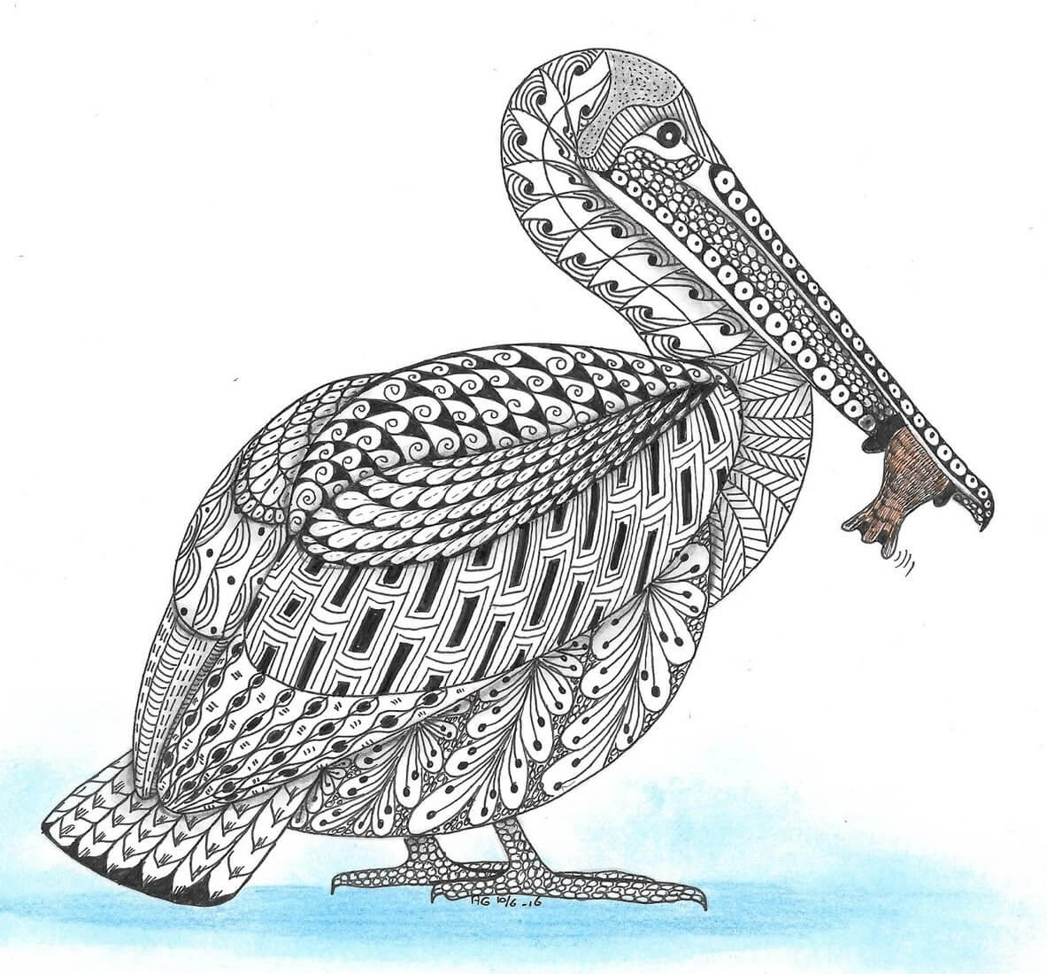03-Pelican-Adri-van-Garderen-Animals-Given-the-Zentangle-Treatment-www-designstack-co