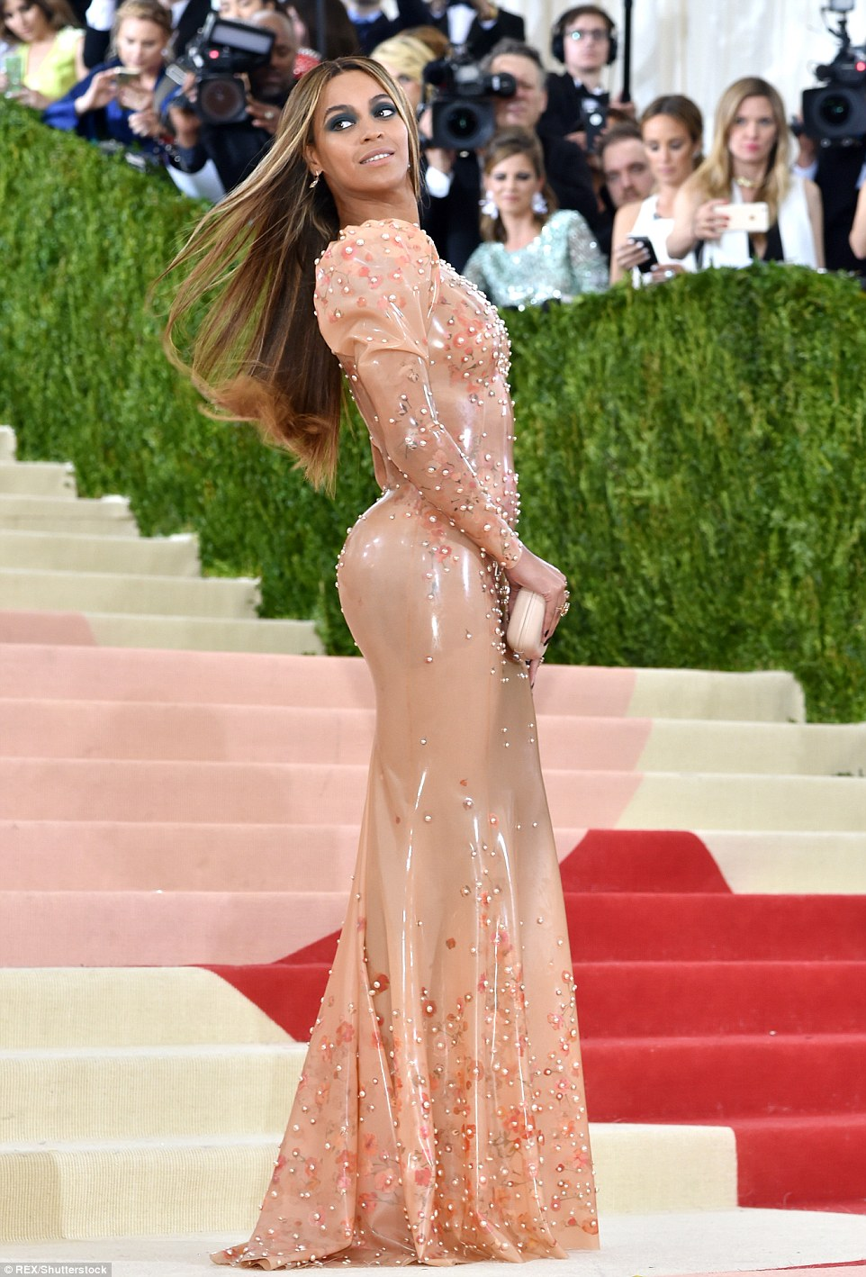 Beyonce wears latex Givenchy to the Met Gala 2016