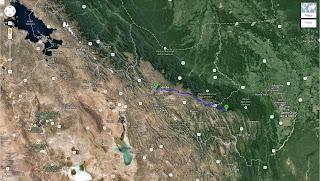 Trajeto detalhado de Comarapa/Bolívia a Quillacollo/Bolívia - 320 km.