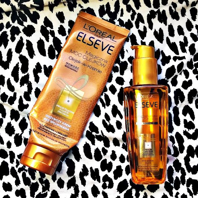 L'Oreal | Elseve | Magiczna moc olejków | Olejek w kremie i Eliksir odżywczy do włosów