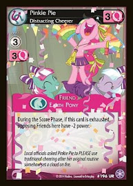 My Little Pony Pinkie Pie, Distracting Cheerer The Crystal Games CCG Card