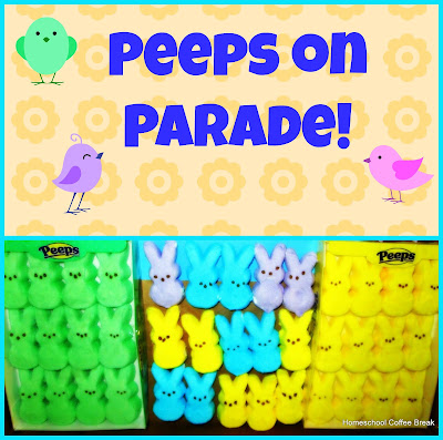 Peeps on Parade! on the Virtual Fridge, an art link-up hosted by Homeschool Coffee Break @ kympossibleblog.blogspot.com