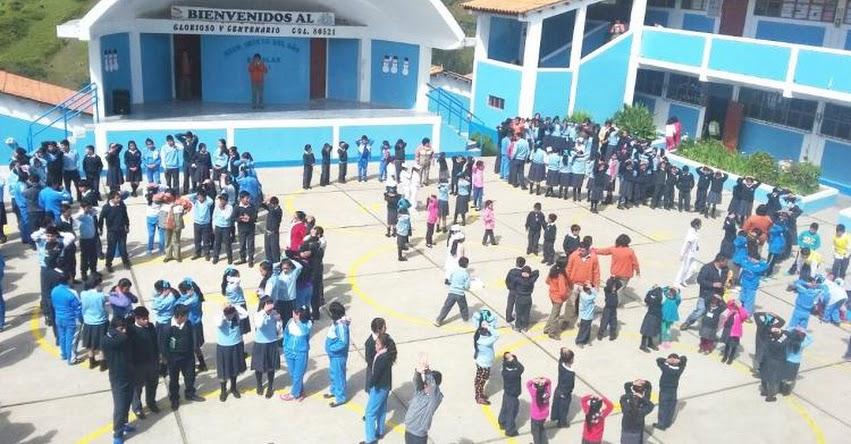 UGEL Santiago de Chuco efectúo el V y último Simulacro Nacional Escolar
