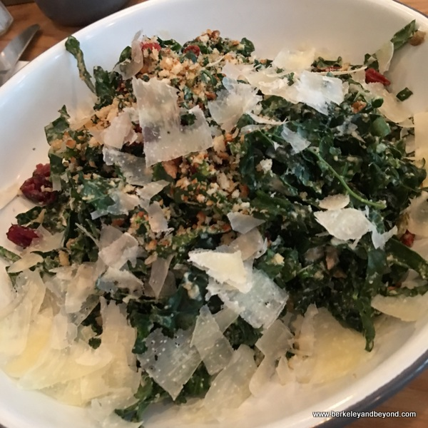 kale salad at Ruby's restaurant in NYC