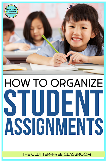 Use this simple system to help you organize and manage student assignments and papers!