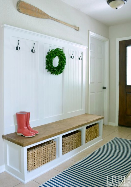 DIY Entryway Wardrobe with Storage