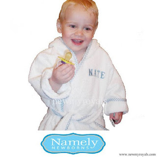 Prince George Personalized Design - Namely Newborns Bathrobe