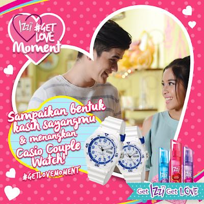 Info Kontes - Kontes Foto IZZI #GetLoveMoment Valentine Berhadiah Jam Tangan Casio Couple
