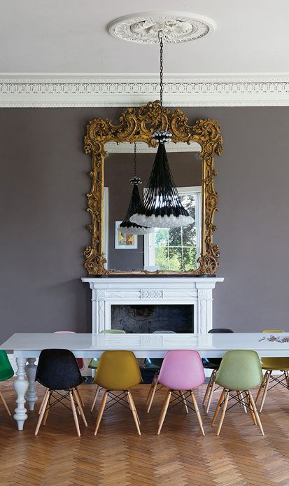 Auction Decorating: Mix it modern! Dining chairs