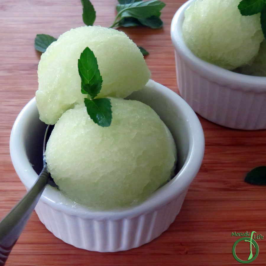 Morsels of Life - Honeydew Sorbet - Light and refreshing - make your own honeydew sorbet with just three ingredients!