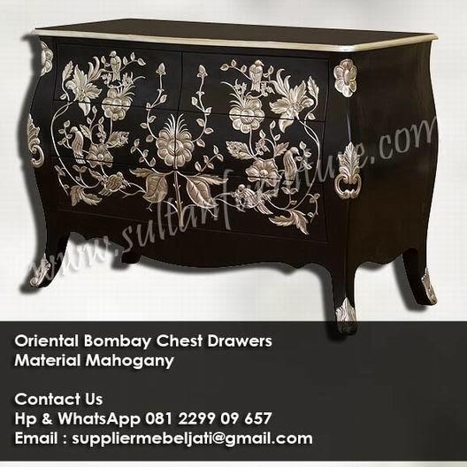 French Jepara Furniture Ukir Dresser ORIENTAL Nakas Bombay