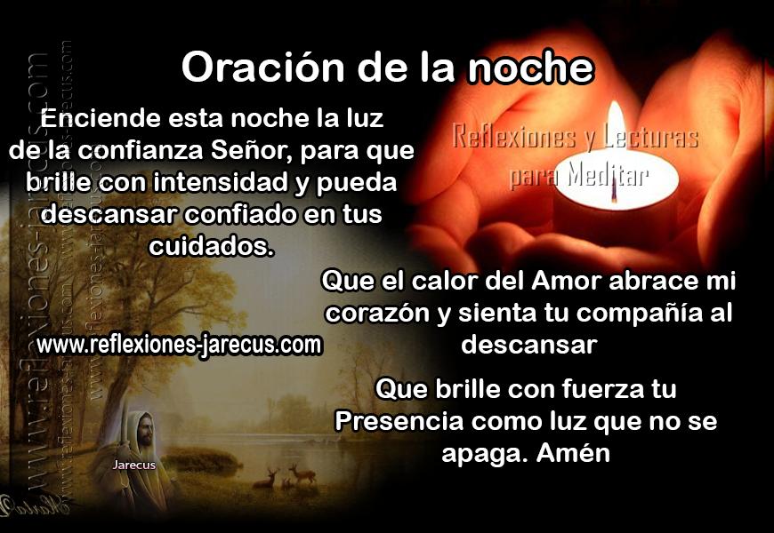 Oraciones, Oración al anochecer, Oración de la noche,
