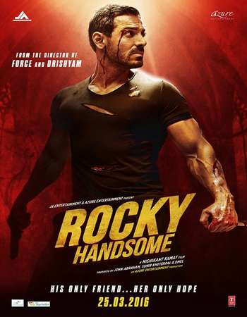 Poster Of Rocky Handsome 2016 Hindi 350MB HDRip 480p Watch Online Free Download Worldfree4u