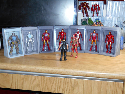 Custom Iron Man 3.75 Inch Scale Hall of Armour. Why Can't We Have This Hasbro!