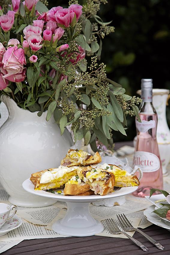 healthy cauliflower cream sauce recipe and croque madame sandwiche recipe