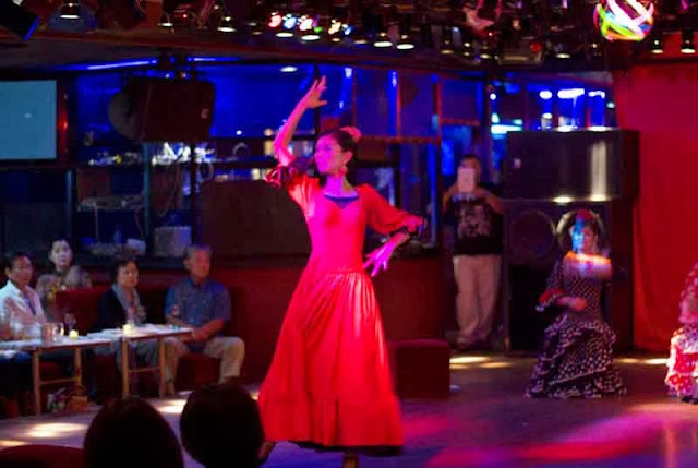 Flamenco dancer in nightclub