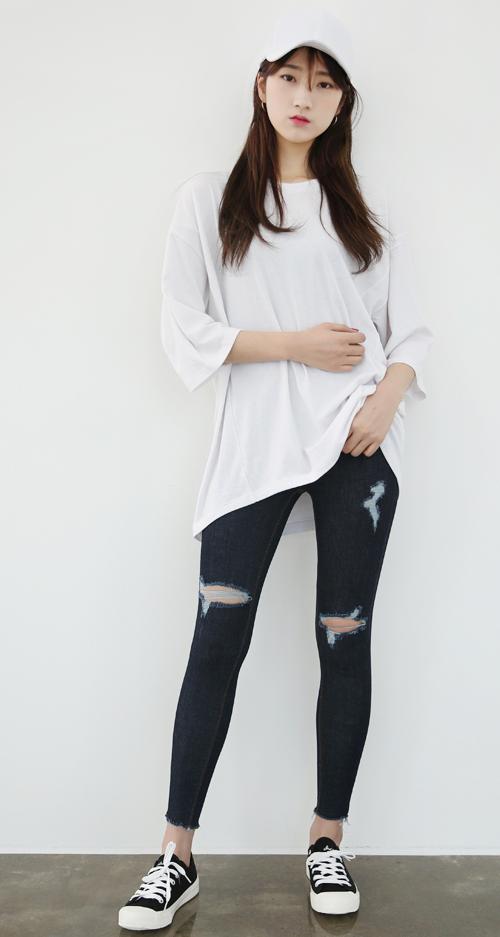 Skinny Slashed Jeans