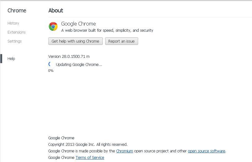 Google releases Google Chrome version 28 0 1500 71 ~ FM-IT