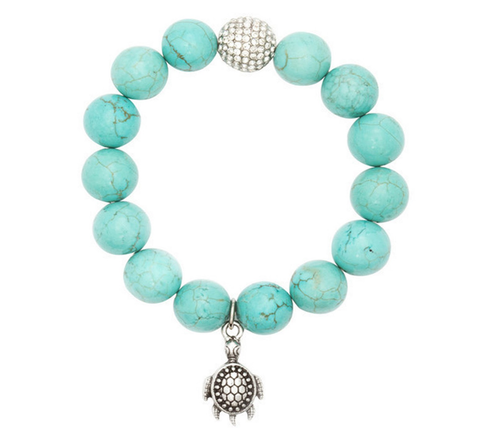 img beachn product clear bold charm crackled sea turtle glass bracelet