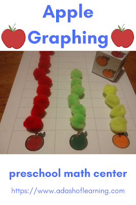 Apple Graphing: Preschool Math Center