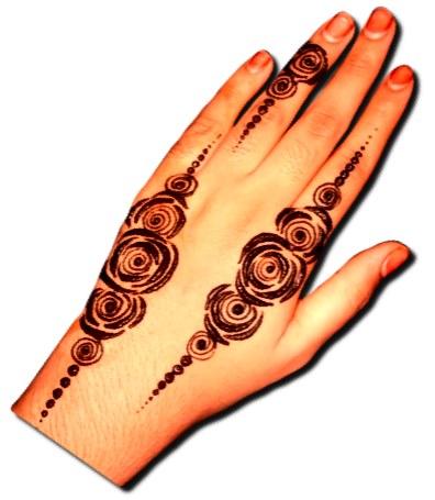 Easy Stylish Back Hand Design