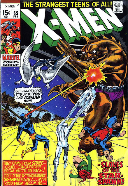 X-men v1 #65 marvel comic book cover art by Neal Adams