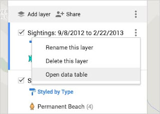 Search and filter your data on Google My Maps