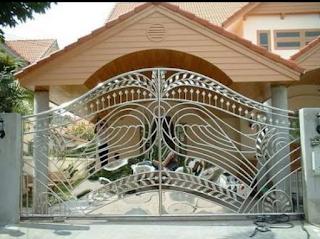pagar stainless stell rumah mewah