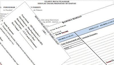 File Administrasi Guru Kelas Sekolah Dasar (SD) Lengkap