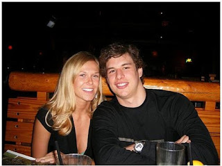 Sidney Crosby with his future wife