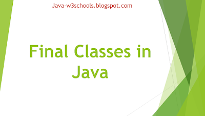 Final Classes in Java