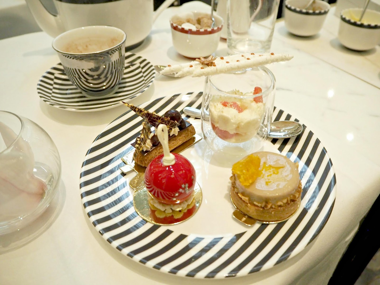 a plate of cake delights british afternoon tea