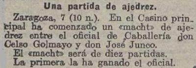 Recorte de La Acción de 8 de junio de 1918