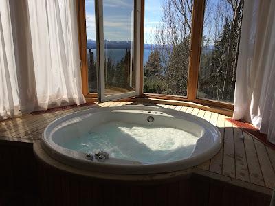 Visto do quarto do hotel Design Suites em Bariloche
