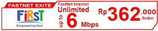 Paket Internet First Media FastNet Exite